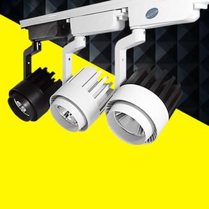 LED COB Track Light 20W 25w 30w 40w Luci per binari illuminazione interna Spotlight Abbigliamento negozio di scarpe 110 V- 240 V Caldo Naturale Freddo bianco
