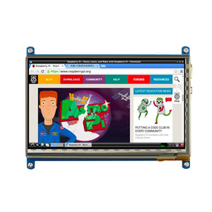 Freeshipping 7 pollici Raspberry Pi 3 Display LCD Touch Screen LCD 1024 * 600 800 * 480 H-DM-I TFT Monitor + Custodia RPI compatibile 2 / B +