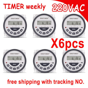 Freeshipping AC 220V 230V 240V Digital Timer 7 Days Programmable Time Switch Relay with UL listed relay 16A easy wiring with flap