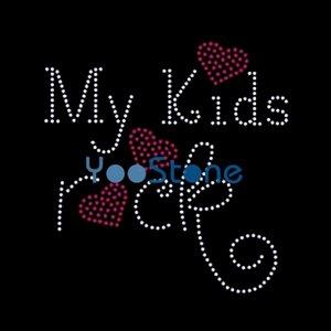 Date Mes Enfants Rock Hot Fix Motif De Fer Sur Strass Transferts Designs Pour Enfants
