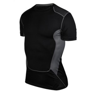 Atacado Hot Sale Homens Compression base de camada de manga curta Sob a camisa Skin Tight Tops corpo