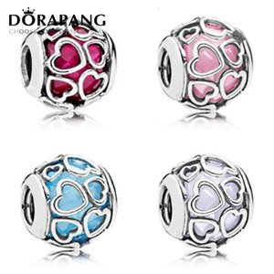 DORAPANG 2017 Spring NEW 100% 925 Sterling Silver Suitable For Original Bracelet CZ Lucky Four Clover Charm Beads DIY Jewelry Accessories