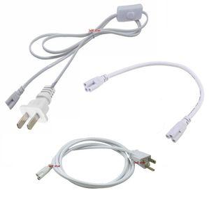 T5 T8 Conector Cabo 2ft 3ft 4ft 5ft 6ft Cabo de Extensão Interruptor Para Cabo De Alimentação Do Tubo LED Integrado Com Plug EUA