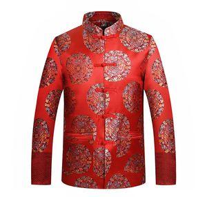 All'ingrosso Tang Giacca Bottone cinese tradizionale vestiti Drago / Phoenix ricamo orientale Fino mandarino collare soddisfare Wedding