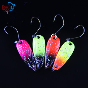 Rosewood First Class 3g Spinner Métal Pêche Pêche Lure cuillère Tackle Paillette Paillettes Spoon Lures Color Mix Livraison gratuite