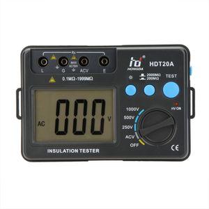 Freeshipping HDT20A عزل المقاومة تستر متر Megohmmeter الفولتميتر 1000V ث / LCD الخلفية