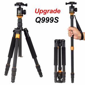Nueva actualización Q999S Fotografía profesional Cabeza de bola portátil de aluminio + trípode a monopie para Canon Nikon Sony DSLR Camera MOQ: 3pcs