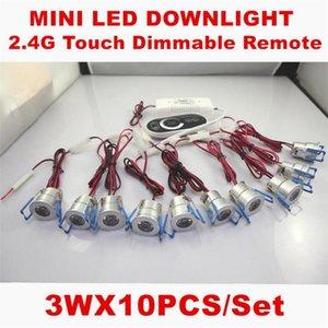 Livraison Gratuite 10pcs / set Éclairage Dimmable 3W 1W LED Spot Light Downlights Chambre Hôtel Escaliers Plancher Lampes Cabinet incluent Dimmer
