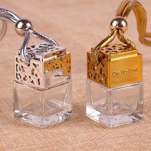 tampa de ouro livre do transporte 5ml ou prata tampa do cair do carro Perfume óleo essencial de decoração de vidro garrafa Pendure corda garrafa vazia