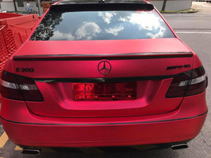 ICE Red Matte Chrome Vinyl For Car Wrap with Air Bubble Free satin red Vehicle Wrap covering size 1.52x20m 5x67ft Roll