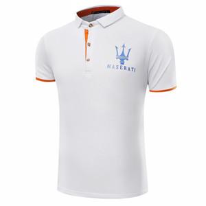 2017 gran patio Maserati Crown Shirts Golf Slim Cómodo diseñador Camisas formales con mezcla de algodón para hombres