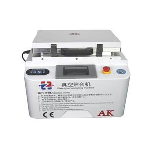 새로운 AK 2 in 1 자동 진공 라미네이터 기포 제거기 기계 자동 잠금 장치가 내장 된 펌프 및 공기 압축기