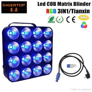 TIPTOP Freeshipping TP-M16 RGB Led Matrix Light Işık 16 * 30W RGB 3IN1 COB DMX Led Matrix kör Hi-Kalite 16pcs 30W RGB COB Tianxin LED x