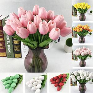 30 шт./лот Тюльпан искусственный цветок PU искусственный букет реальные сенсорные цветы для украшения дома свадебные декоративные цветы
