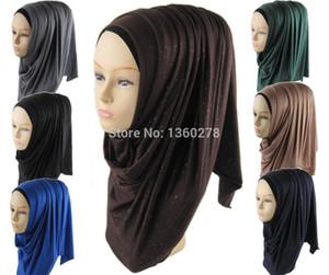 Al por mayor- (12 unids / lote) jersey musulmán shimmer hijab brillo de la manera bufanda chal hijab JLS122
