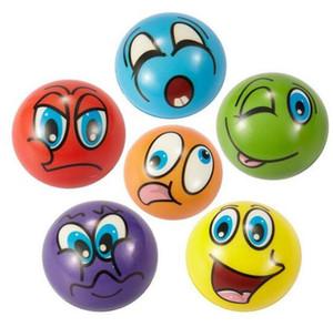 Hot morbido PU divertente Emoticon viso palle stress Spremere Schiuma sfera della novità Relax Giocattoli assortiti Expression