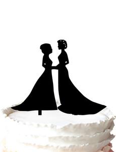 La sua lo stesso sesso Wedding Cake Topper per signora, cake topper matrimonio lesbico-matrimonio,, 37 colori per opzione Spedizione gratuita