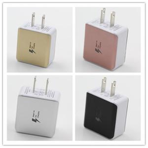 Doppel-USB-Wand-Ladegeräte, die schnell 5V 2.1A US-Stecker-Wechselstromadapter für Samsung-Universal-Smartphone frei laden DHL 4 Farbe