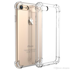 For iPhone 11 Pro XS Max XR X 6 6S 7 8 Plus Anti-Knock Shockproof Clear Transparent Rubber Soft TPU Gel Case Cover