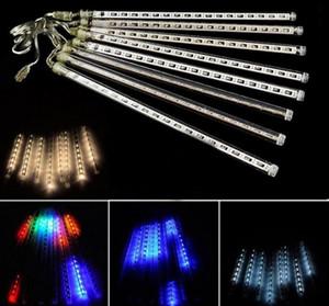 8pcs / set nevadas luz de tira LED Navidad lluvia tubo lluvia de meteoros LED luz tubos UE / EE. UU. / Reino Unido / AU Enchufe AC 100V-240V