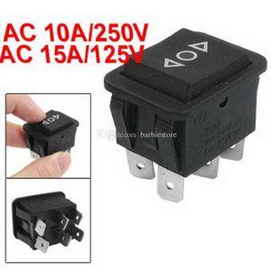 5X 6 Pin DPDT Botón negro On / Off / On Interruptor oscilante AC 250V / 10A 125V / 15A B00403 ONET