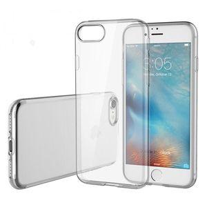 IPhone X için Temizle Kılıf iphone 7/8 7/8 Artı 6 s 6 s Artı TPU Samsung için Notf Not 8 S8 S8 Artı S7 S7 kenar OPP Çanta ile 100 adet / up