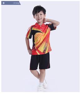 Ternos de ténis de mesa para crianças, criança ping-pang camisa de tênis roupas, tênis de t-shirt shorts, Badminton Jersey pingpang Ternos de treino de competição