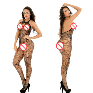 Crotchless Sexy Bodystocking Erotique Bodystocking Sexy Sous-vêtements Sexi Langerie Chaud Bodywear Transparent Collant Pour Femme Taille Libre