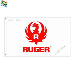 GoodFlag Free Shipping ruger flags bandiera 3X5 FT 90 * 150CM Bandiera Polyster Outdoor