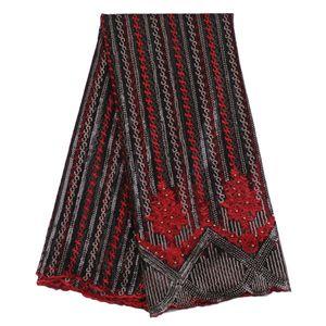 Venda quente Mais Recente Bordado de Alta Qualidade Nigeriano Rendas Tecidos Para Vestidos de Noiva Africano Francês Tule Tecido de Renda Líquida