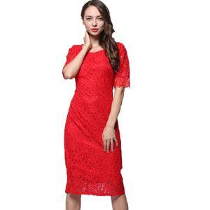 M -10XL 플러스 사이즈 여성 레이스 원피스 O- 넥 중간 슬리브 Out Of Bodycon Peplum 꽃 레이스 드레스 Floral Vestidos Slash 섹시한 짧은 드레스