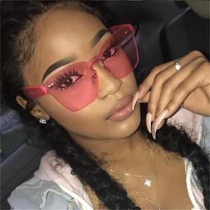 فرملس نظارات المرأة أزياء العلامة التجارية التدرج الفضة الوردي الأصفر نظارات الشمس الإناث الكمبيوتر المواد العصرية نظارات uv400 oculos دي سول