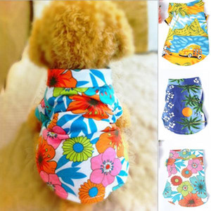 Hund lässig Hunde- Blumenshirt Hawaiian Camp Shirt Pet Sommerkleidung Strand Top