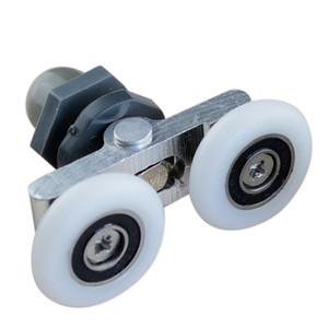 Swing roda dupla polia do quarto de vidro da porta de correr de correr rolo de roda de hardware doméstico parte da mobília