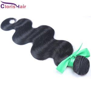 Raw cabelo indiano virgem 1 Bundle não transformados Corpo Cabelo Aceno Weaves baratos molhado e ondulado Remy Cabelo Humano Extensões Wholesale online
