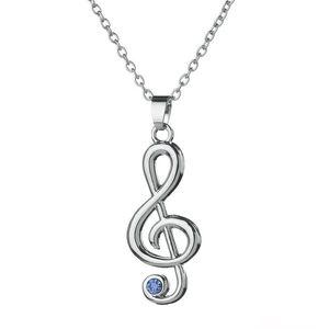 Neues unbedeutendes einfaches Art- und Weisehohlkristallanhänger-Halsketten-Musik-Schmucksache-spezielles Geschenk der musikalischen Anmerkung freies Verschiffen
