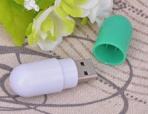 Flash Drive capacidad real unidad USB pulgar de color personalizado píldora ABS USB Stick USB 2.0 Memory Stick 64mb-64gb Thumbdrive plástico