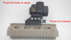 Lançamento ultra-rápida preto trijicon mro red dot e visão noturna Dot Sight Optic Scope se encaixa 20mm Scope Mount Para Caça Rifle
