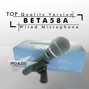 Kostenloser Versand! Top Qualität Version Beta58a Vocal Karaoke Handheld Dynamische Kabelmikrofon BETA58 Microfone Mike Beta 58 A Mic