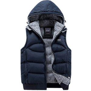 Großhandels- Jacken-Männer Sleeveless Veste homme Mens-Winter-Art- und Weisebeiläufige Mäntel Männer Hooded Cotton-Padded Weste der Männer Verdickungsweste