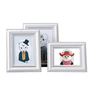 أوروبا 6-10 بوصة سطح المكتب الحلي صورة بيضاء اللون زفاف إطارات الصور / إطار اللوحة / إطارات الصور مربع