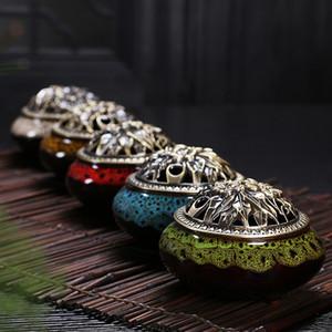 Celadon cerâmica Buda incenso base de liga de cobre queimador de incenso antigo incenso de sândalo Frete Grátis