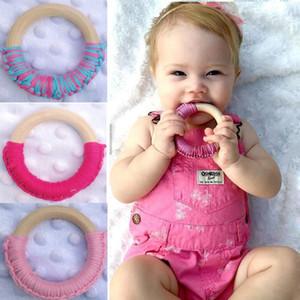 20 Couleurs Nouveau-Né Sécurité En Bois Jouets Nature Anneau Bébé Organique À Croquer Rond Crochet Sucettes Infantile Formation jouets