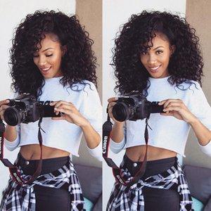 Siyah Kadınlar İçin Kinky Kıvırcık Peruk% 100 Remy İnsan Saç Tam Dantel Peruk Tutkalsız Dantel Tam Başkanı Peruk