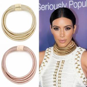 Étoile Même Conception Kim Kardashian Collier Ras Du Cou De Colliers Pour Femmes Déclaration Bijoux Maxi Colliers Boho Accessoires 2017 D'été Fille Bijoux