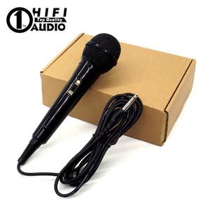 Microfone Dinâmico Com Fio Microfone Profissional Microfone Para Cantar KTV Mixer Sistema de Microfone Karaoke PA Amplificador de Potência Speaker Microfono