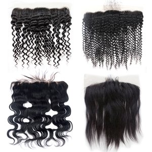 Mongolian Kinky Curly Stright Körper Lose Deep Wave Hair 13x4 Lace Frontal Peruanische Malaysian Indian Brasilianisches Menschenhaar 13x4 Lace Frontal
