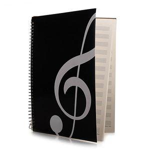 Бланк Ноты Состав Рукопись Staff Бумага Art Music Notebook Black 50 страниц 26x19cm Музыка ключ ноутбук