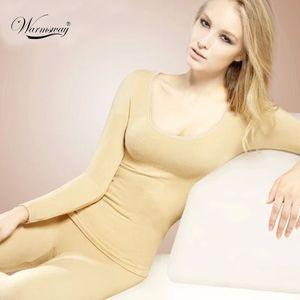 Wholesale- Thermal Underwear Women 2017 뜨거운 판매 겨울 누드 살 피부 블랙 레드 긴 존스 Underwears 탑 바지 TS-022