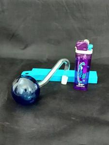Büyük balon rengi cam S brülör, yağ Cam Boru Bağlantı Parçaları pot Sigara veya bongs cam su boruları Sigara Aksesuarları Sigara